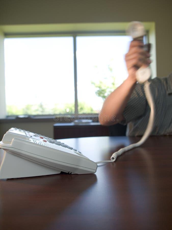 kontor phone4 fotografering för bildbyråer