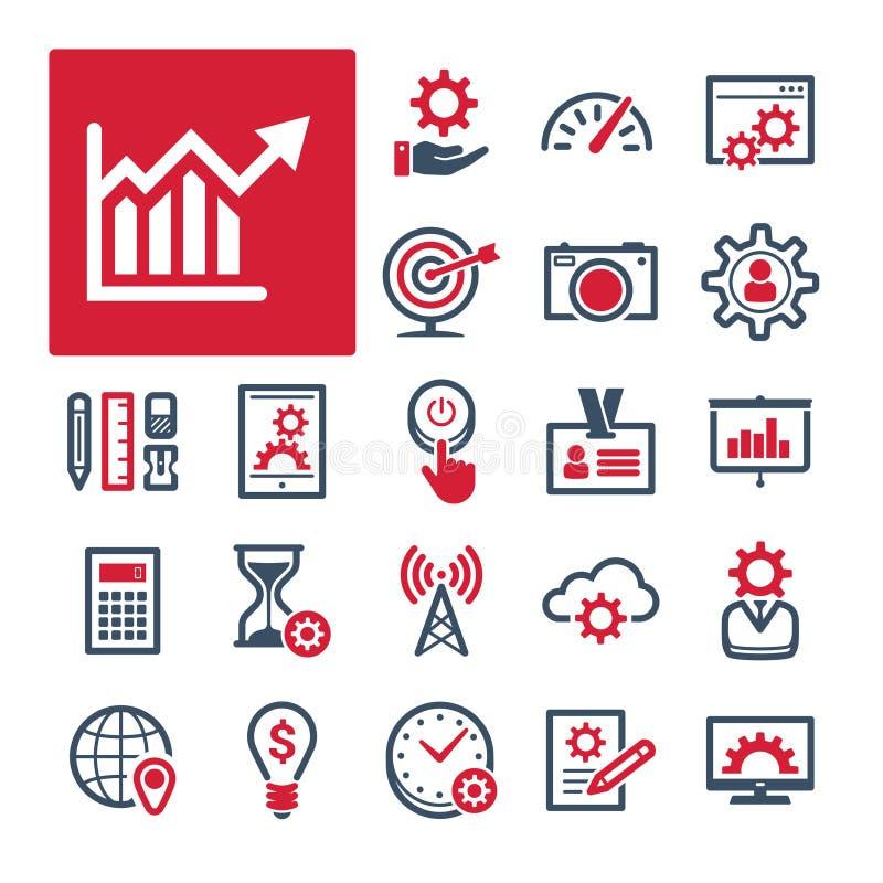 Kontor, produktivitet och kommunikation (del 1) stock illustrationer