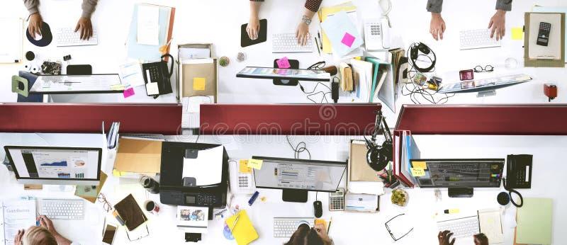 Kontor Team Working Togetherness Workplace Concept arkivbilder