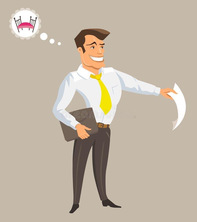 kontorist stock illustrationer