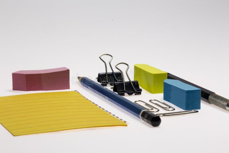 Kontors- och skolabrevpapper arkivfoto