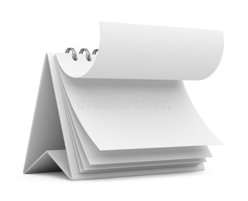 Kontorsaffärskalender symbol 3d stock illustrationer