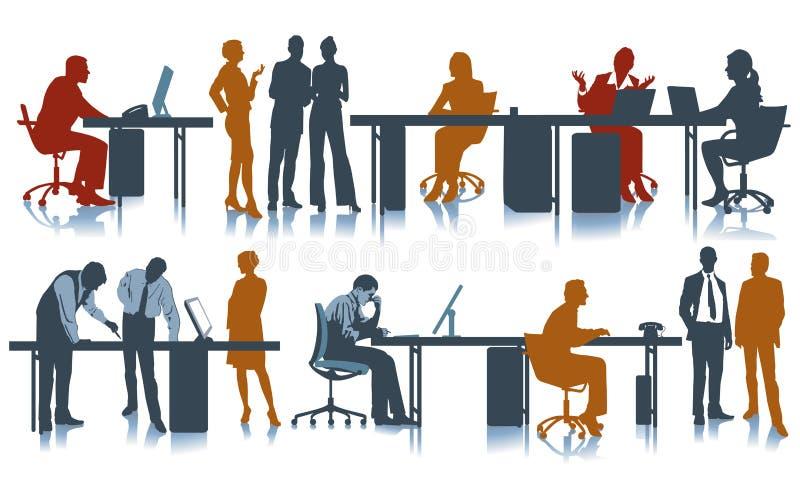 kontorsarbetsplats vektor illustrationer