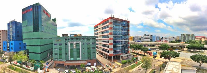Kontorsbyggnader i industriellt gods arkivfoton