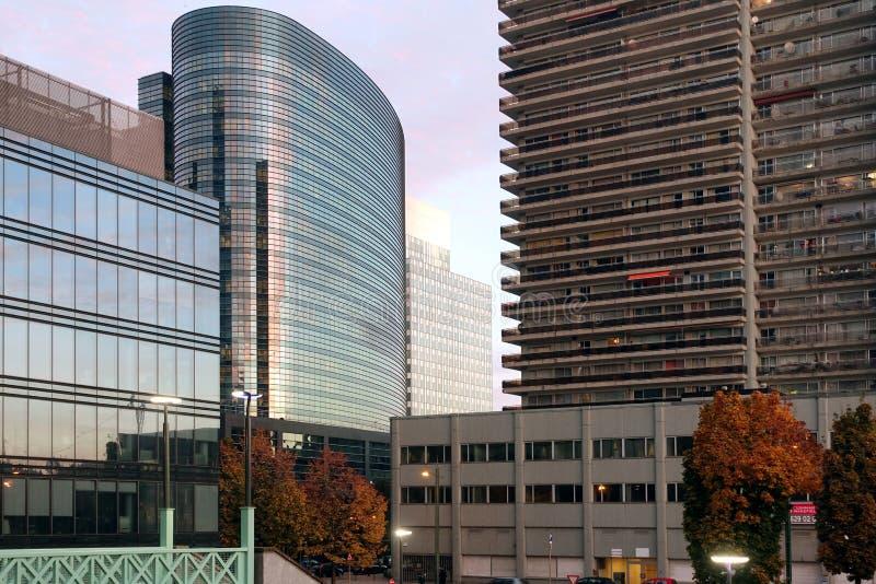 Kontorsbyggnader och lägenheter, Bryssel, Belgien arkivbild