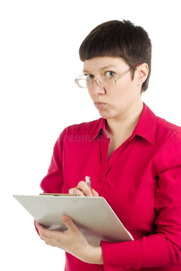 kontorskvinna royaltyfria foton