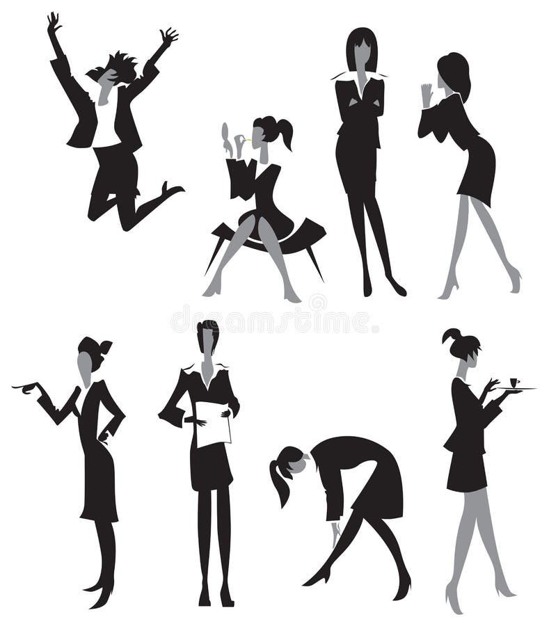 kontorskvinnor stock illustrationer