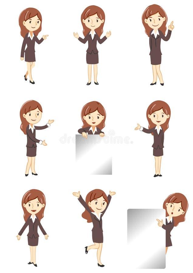Kontorsladyskärm vektor illustrationer