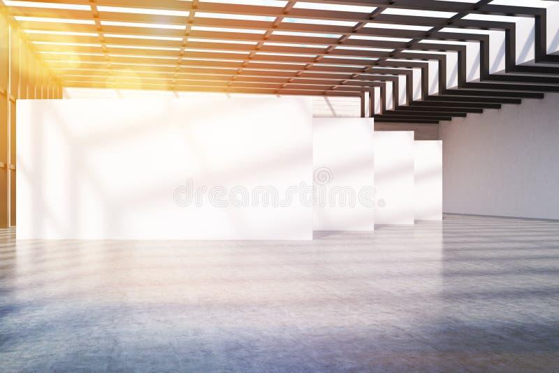 Kontorslobby i loft stock illustrationer