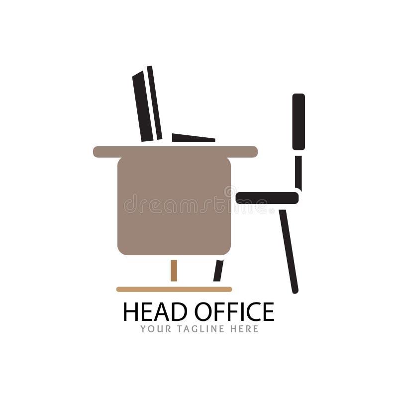 Kontorslogo för arbete royaltyfri illustrationer