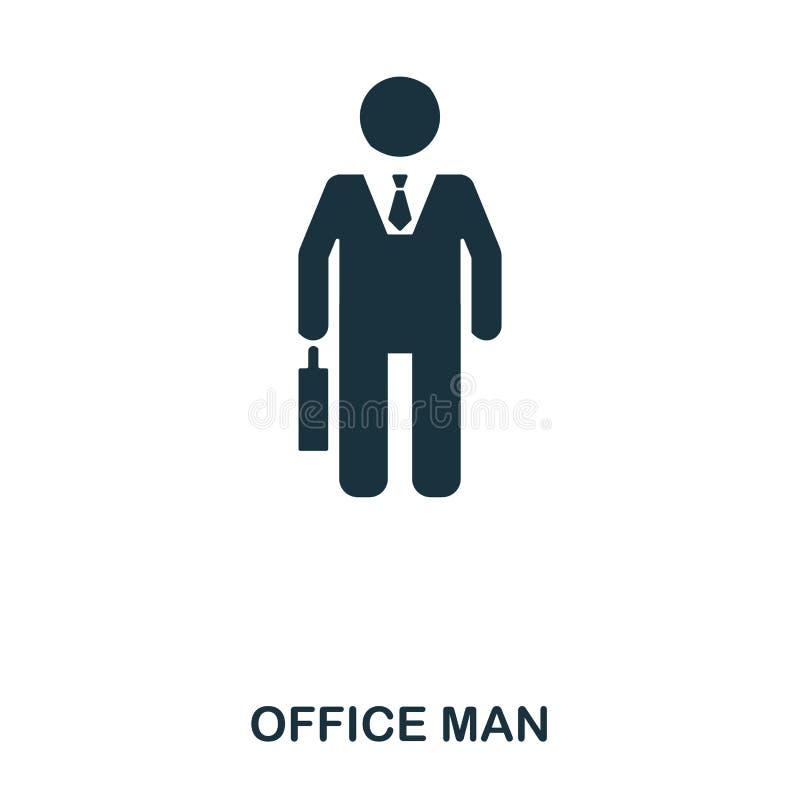 Kontorsmansymbol Linje stilsymbolsdesign Ui Illustration av kontorsmansymbolen pictogram som isoleras på vit ordna till för att a vektor illustrationer