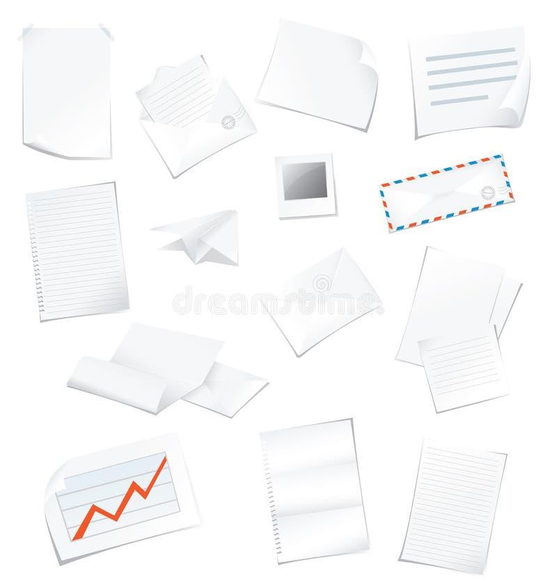 kontorspapper stock illustrationer