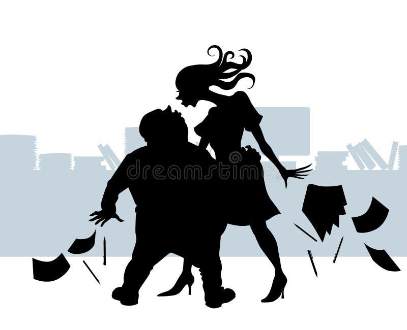Kontorsromans royaltyfri illustrationer