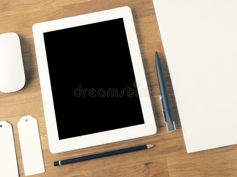 Kontorsskrivbord för bästa sikt arkivfoton