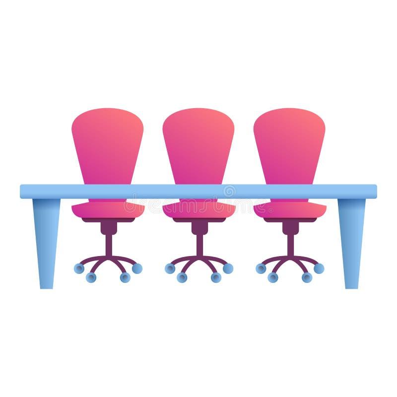 Kontorsskrivbordstolar symbol, tecknad filmstil royaltyfri illustrationer