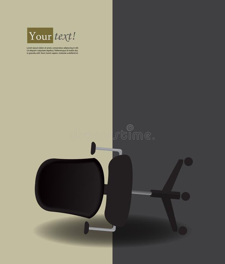 Kontorsstol vände över stock illustrationer