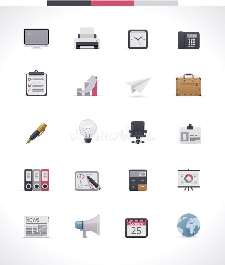 Kontorssymbolsuppsättning royaltyfri illustrationer
