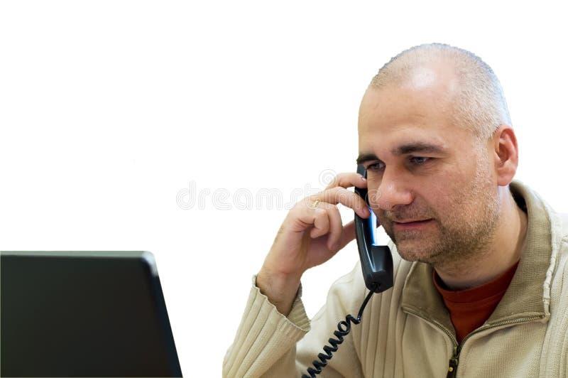 kontorstelefonarbetare royaltyfri bild