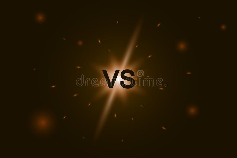 Kontra logo VS bokst?ver f?r sportkonkurrens kamp, modig strid vektor illustrationer