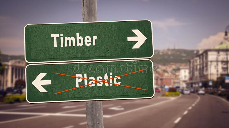 Kontra plast- timmer f?r gatatecken arkivbilder