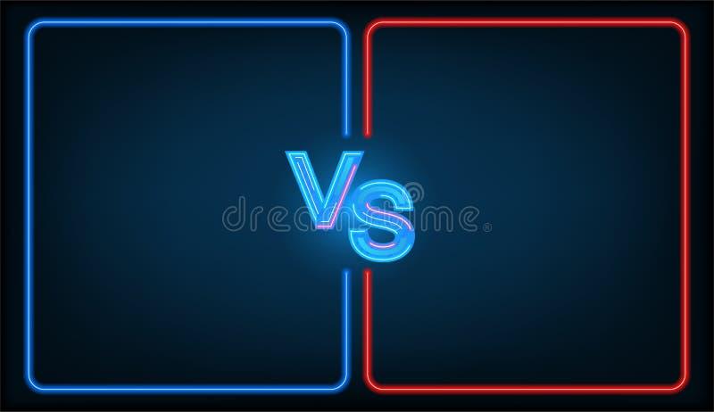 Kontra strid vektor illustrationer