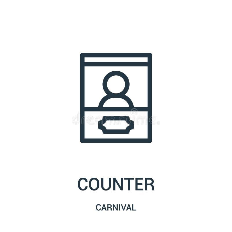 kontra symbolsvektorn från karnevalsamling Tunn linje illustration f?r vektor f?r r?knare?versiktssymbol vektor illustrationer