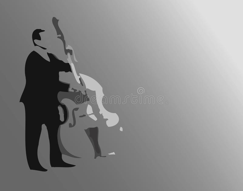 kontrabasista royalty ilustracja