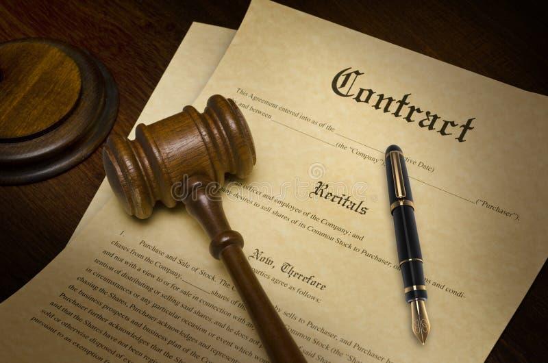 Kontrakt zdjęcie royalty free