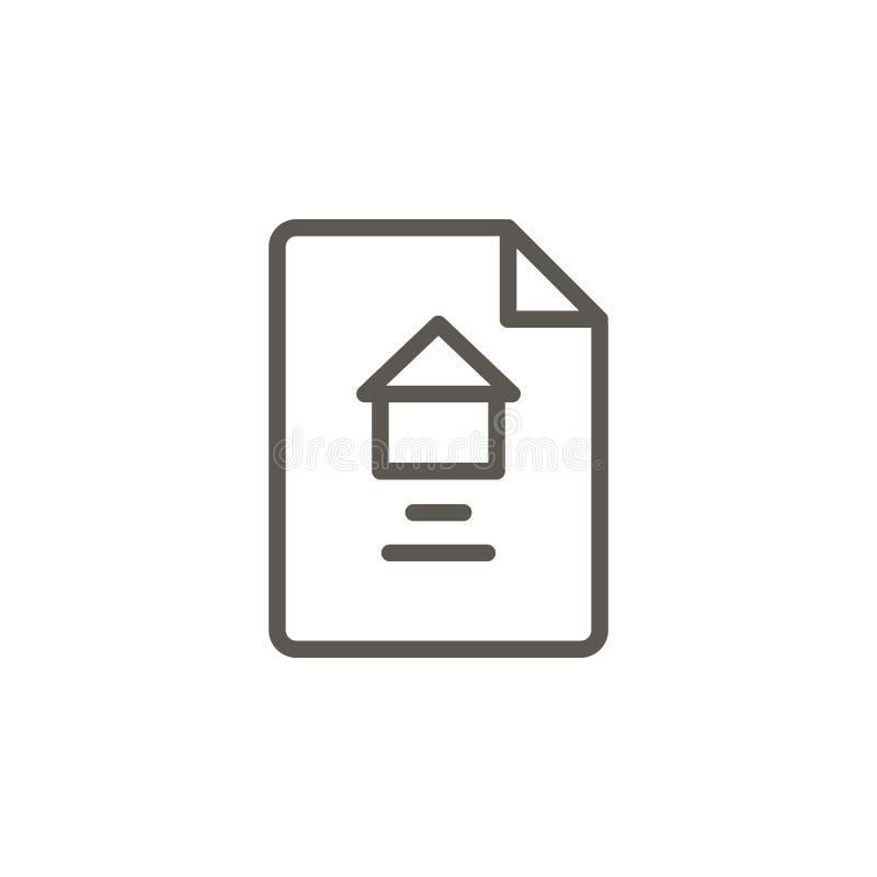 Kontrakt, dokument, majątkowa wektorowa ikona Prosta element ilustracja od UI poj?cia Kontrakt, dokument, majątkowa wektorowa iko royalty ilustracja