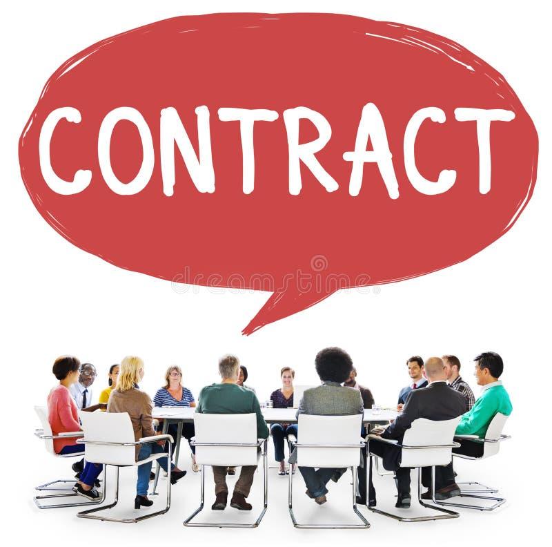Kontraktacyjny Legalny zajęcia partnerstwa transakci pojęcie obraz stock