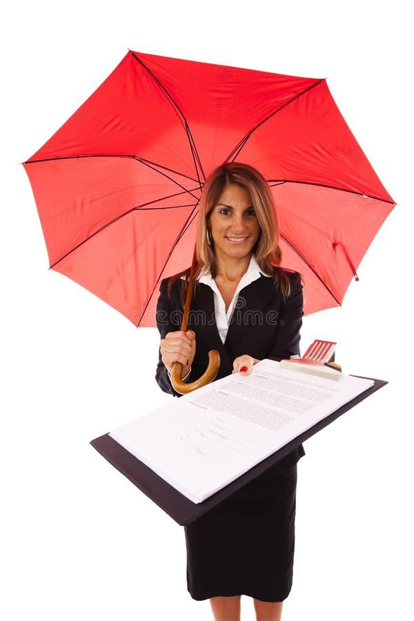 kontraktacyjny ubezpieczenie zdjęcie stock