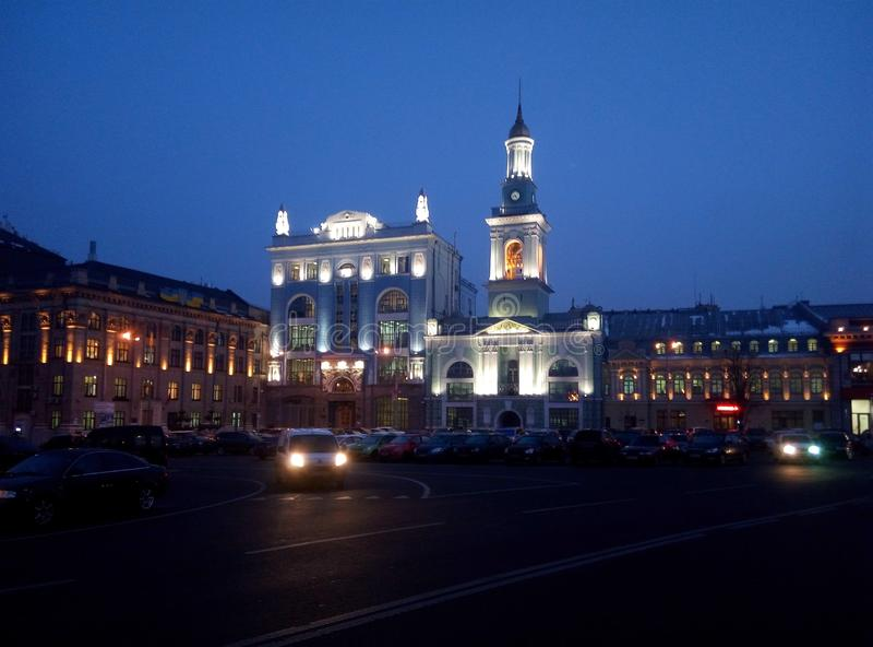 Kontraktova-Quadrat Kyiv, Ukraine stockfotografie