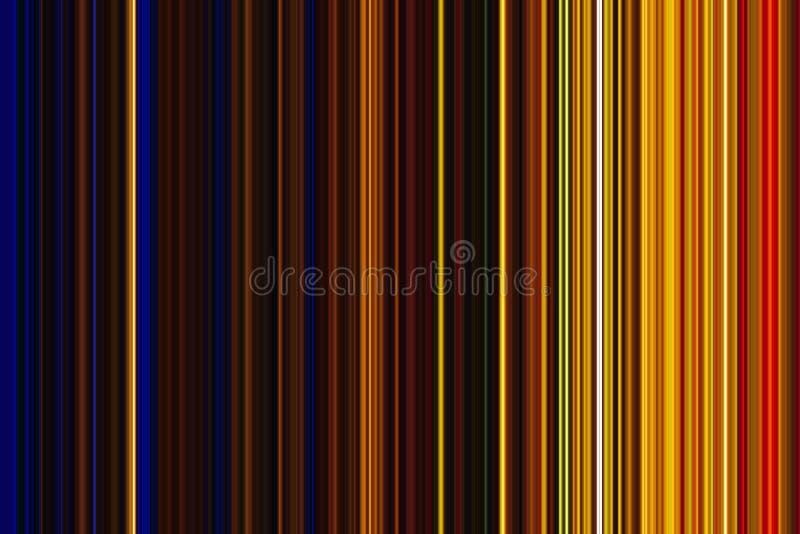 Kontrast barwi i wykłada w złocie i błękitnych odcieniach royalty ilustracja