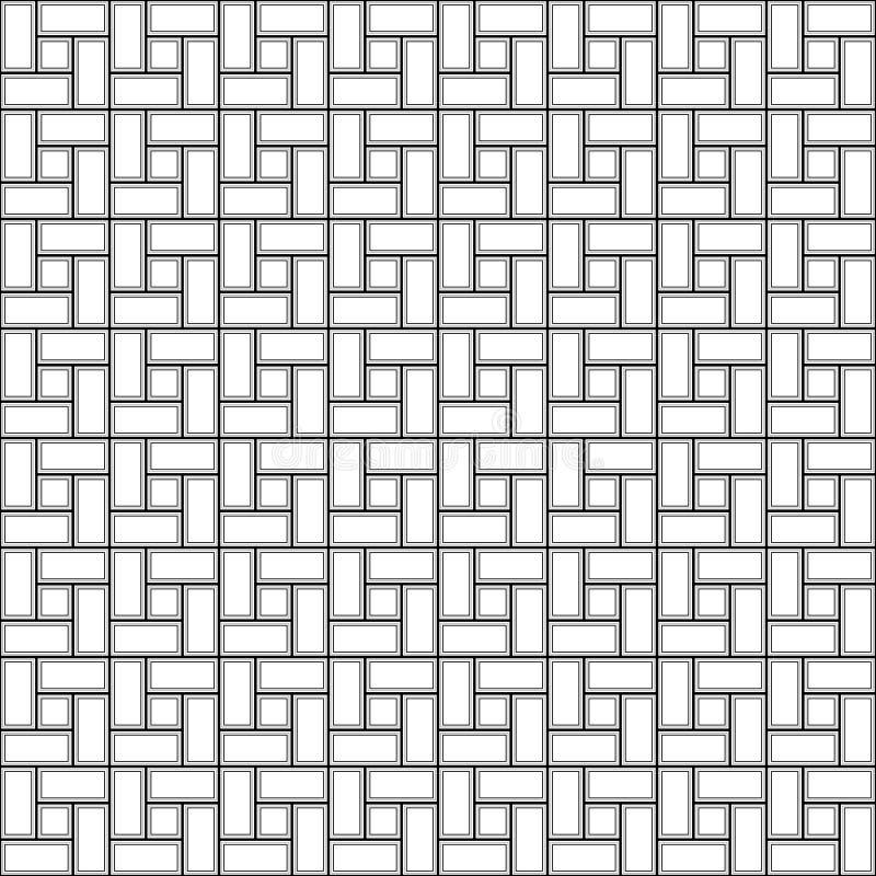 Kontrast cegły spirali płytki clockwise tekstury bezszwowy wzór ilustracja wektor