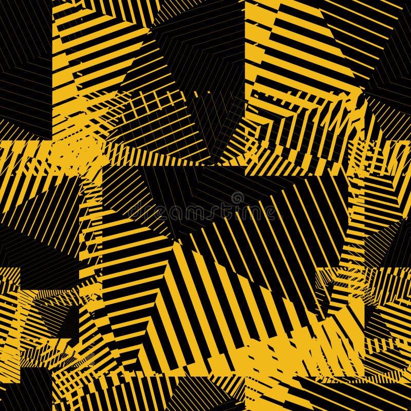 Kontrast ciągłych linii kreatywnie wzór, kolorowy motywu abstr royalty ilustracja