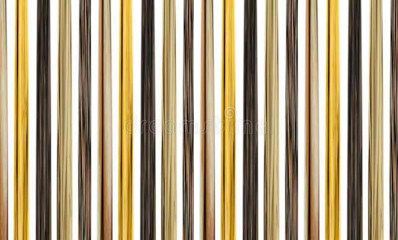 Kontrastera mörka ljusa linjer beige mörk brunt för trärandig bakgrund royaltyfri illustrationer