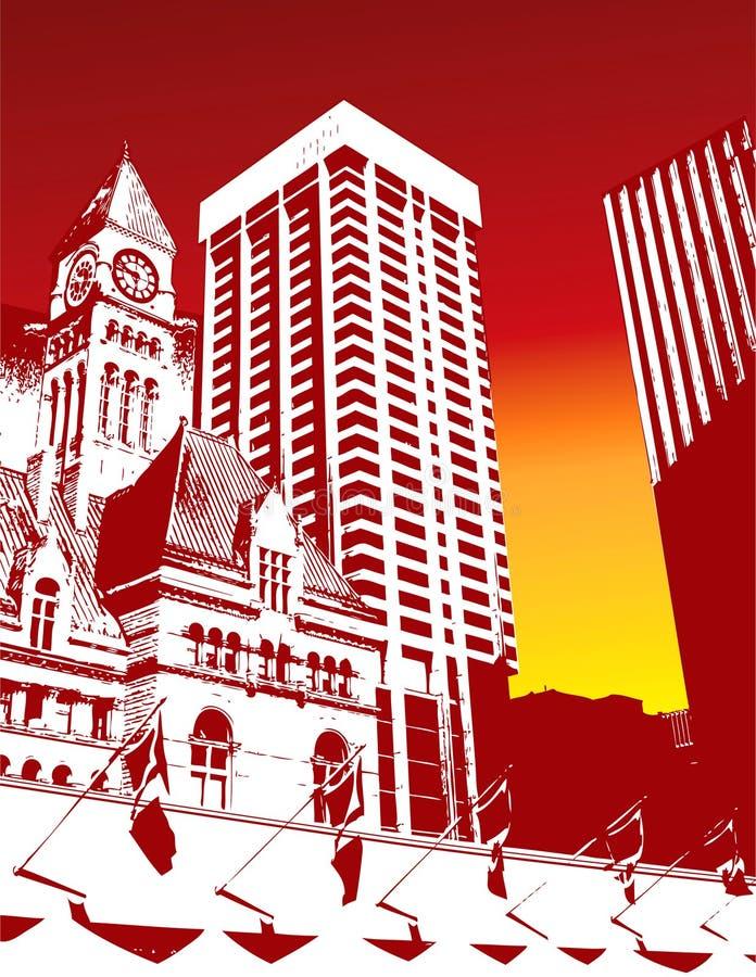 Kontrastreicher Stadt-Hintergrund lizenzfreie abbildung