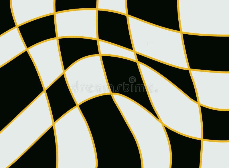 Kontrastujący artystyczny czarny i biały dynamiczny tło ilustracja wektor