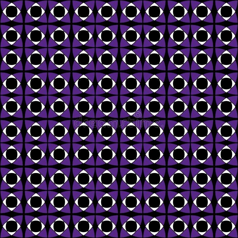 Kontrastuje nowożytnego płytka wzór, ciemne purpury barwi Geometryczny bezszwowy wektoru wzór, kontrastuje jaskrawych kolory Niek ilustracji