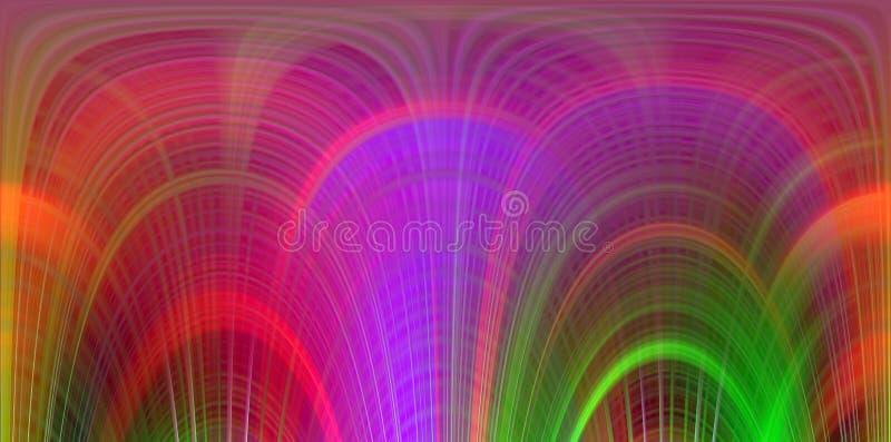 Kontrastuje rzadkopłynne żywe linie, kolory, linii tło, miękcy mieszanka kontrasty, abstrakcjonistyczne grafika tło abstrakcjonis ilustracja wektor