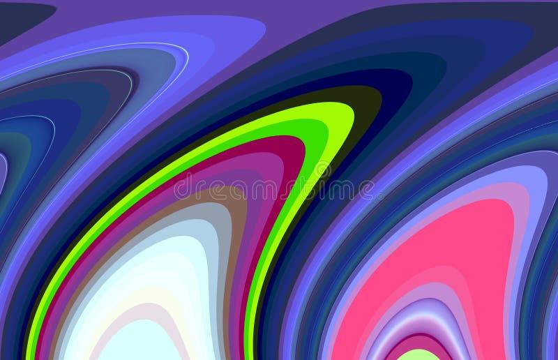 Kontrastuje rzadkopłynne linie, kolory, linii tło, miękcy mieszanka kontrasty, abstrakcjonistyczne grafika tło abstrakcjonistyczn ilustracja wektor
