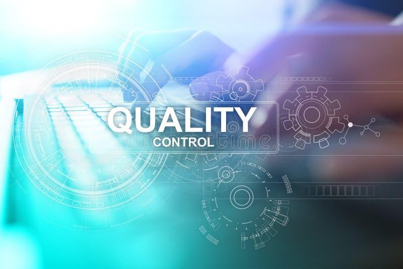 Kontrola jakości czeka pudełko Gwarancji zapewnienie Standardy, ISO Biznesu i technologii pojęcie obrazy stock