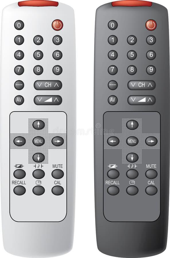 kontrola pilota tv ilustracji