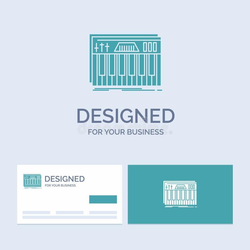 Kontroler, klawiatura, klucze, Midi, rozsądny Biznesowy logo glifu ikony symbol dla twój biznesu Turkusowe wizyt?wki z gatunkiem royalty ilustracja