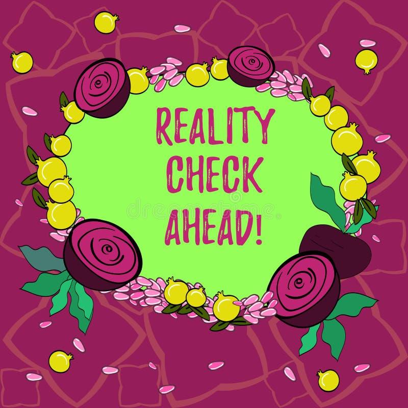 Kontroll för verklighet för textteckenvisning framåt Det begreppsmässiga fotoet gör dem att känna igen sanning om läge någon den  vektor illustrationer