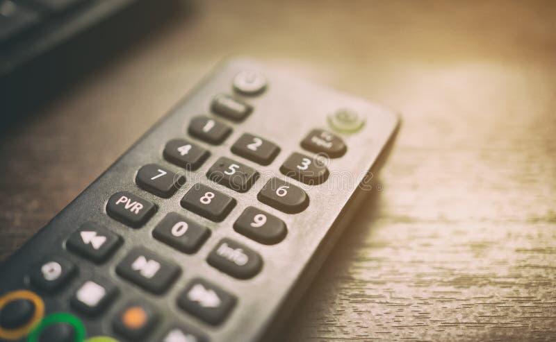Kontrollant för fjärrkontroll för fastställd bästa ask för kabel-TV satellit- royaltyfria foton