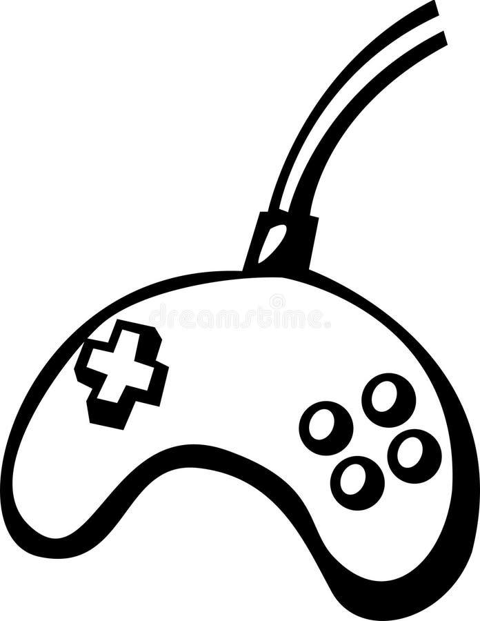 kontrollantjoypadvideogame vektor illustrationer