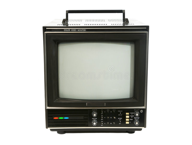 kontrollera den retro televisionen arkivfoto