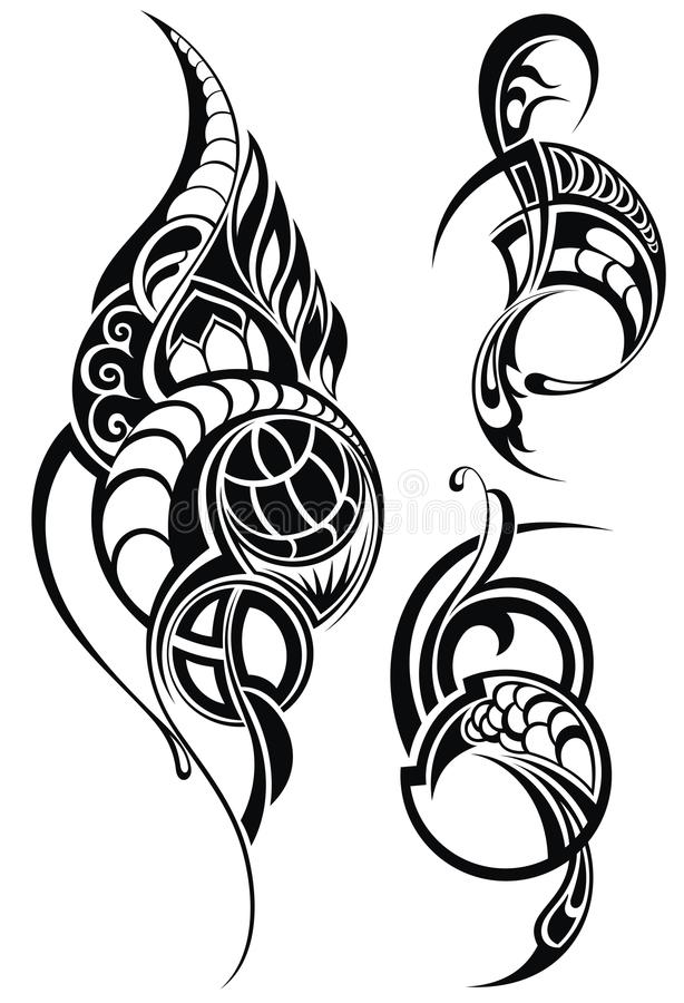 kontrollera designbilden min liknande tatuering för portföljen stock illustrationer