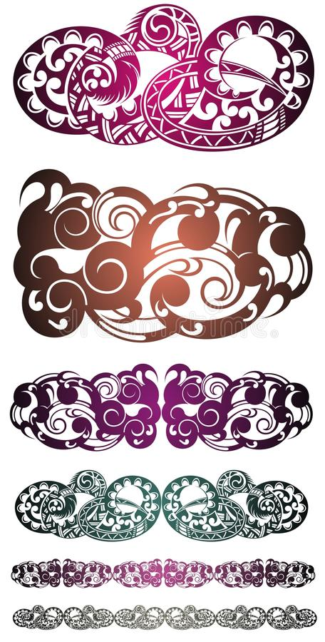 kontrollera designbilden min liknande tatuering för portföljen Stam- vektordesign för tatuering Stam- tatuering för konst stock illustrationer
